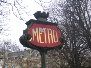 Paris December 2009 Metro Sign